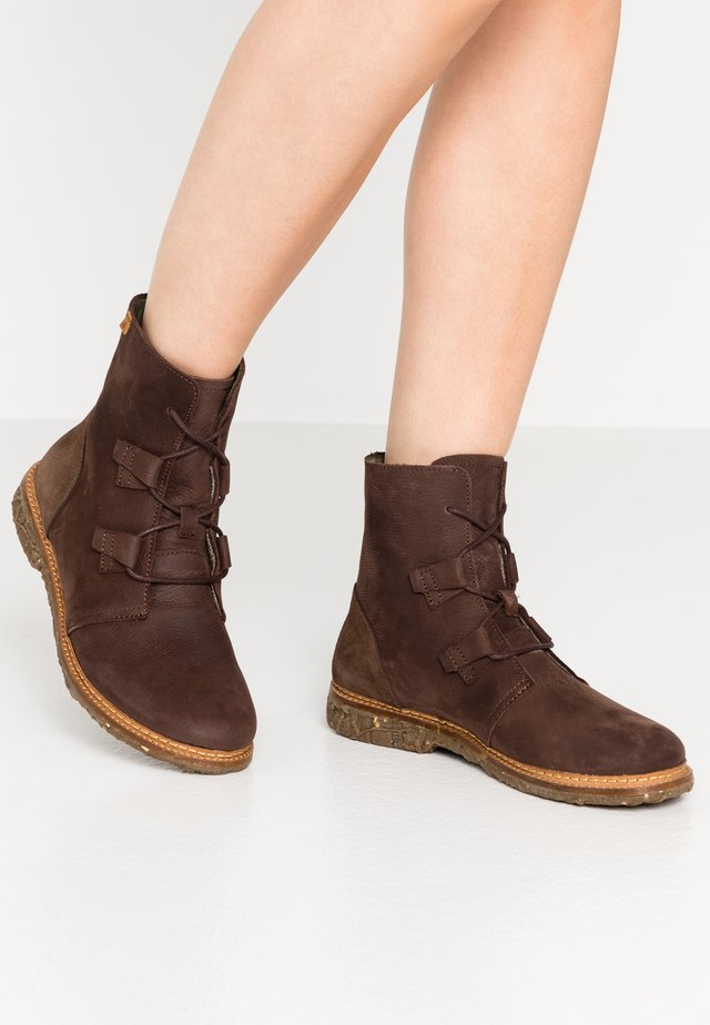 ANGKOR - Lace-up ankle boots - pleasant brown