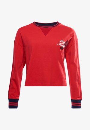 COLLEGIATE GRAPHIC - Long sleeved top - drop kick red