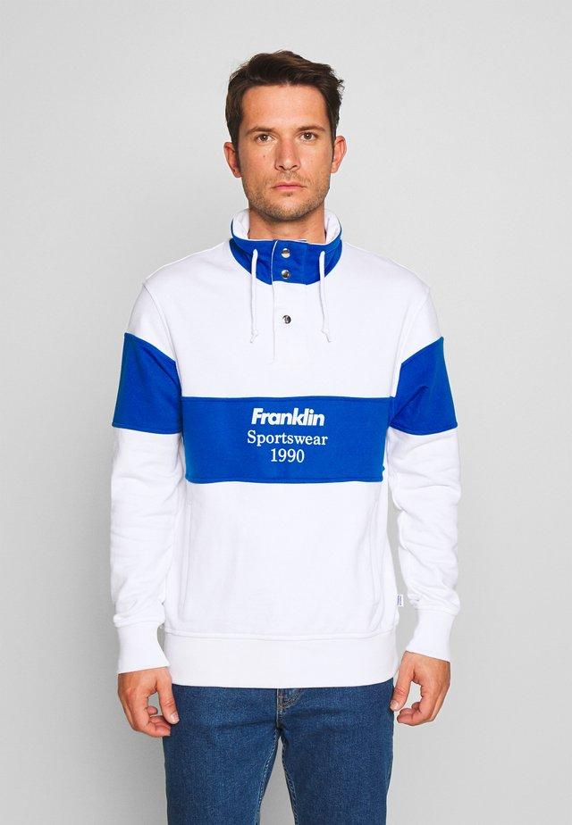 Sweatshirt - block color white