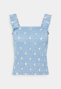 Pieces - PCMARY STRAP SMOCK - Toppe - blue fog - 4