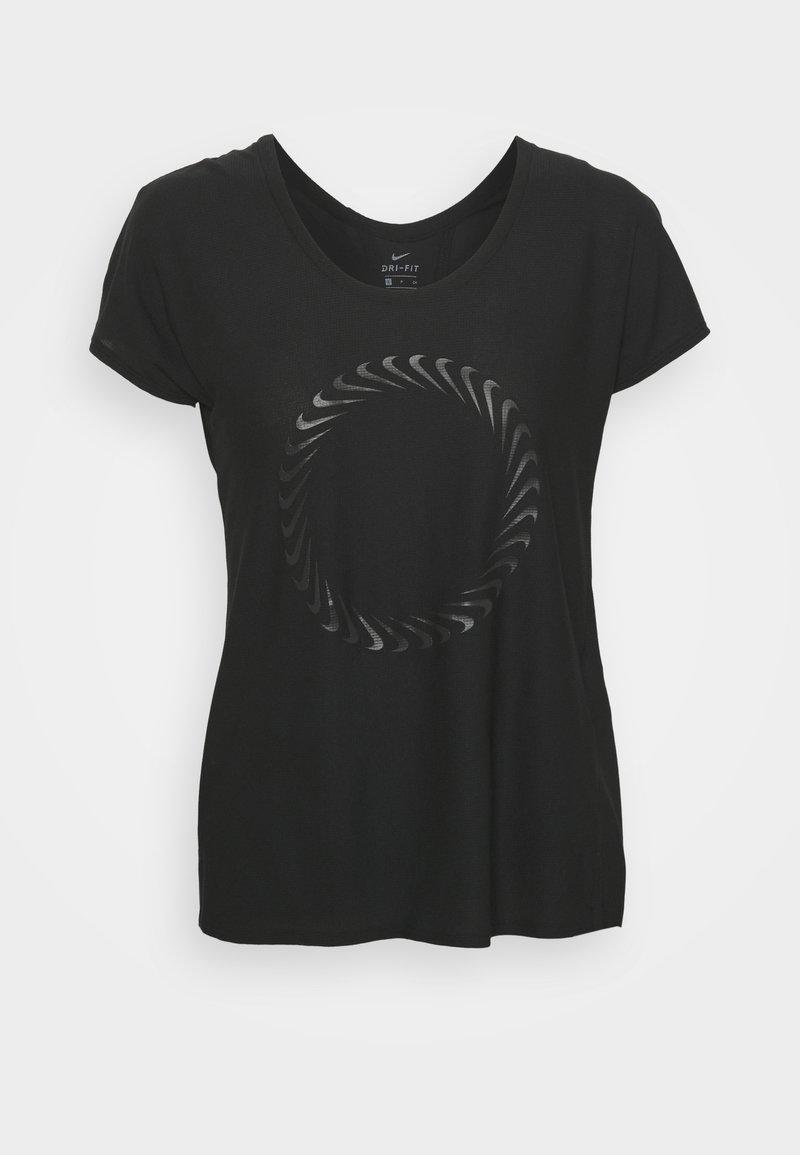 Nike Performance - ICON CLASH MILER  - T-shirt print - black