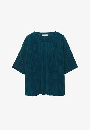 T-shirt basic - petrol blauw
