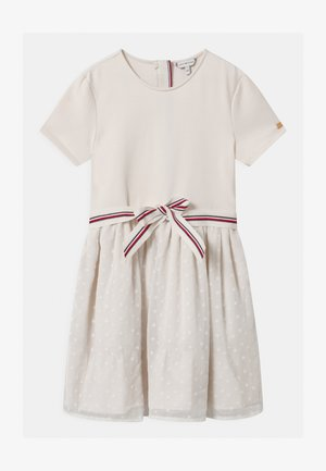 COMBI - Jersey dress - off-white