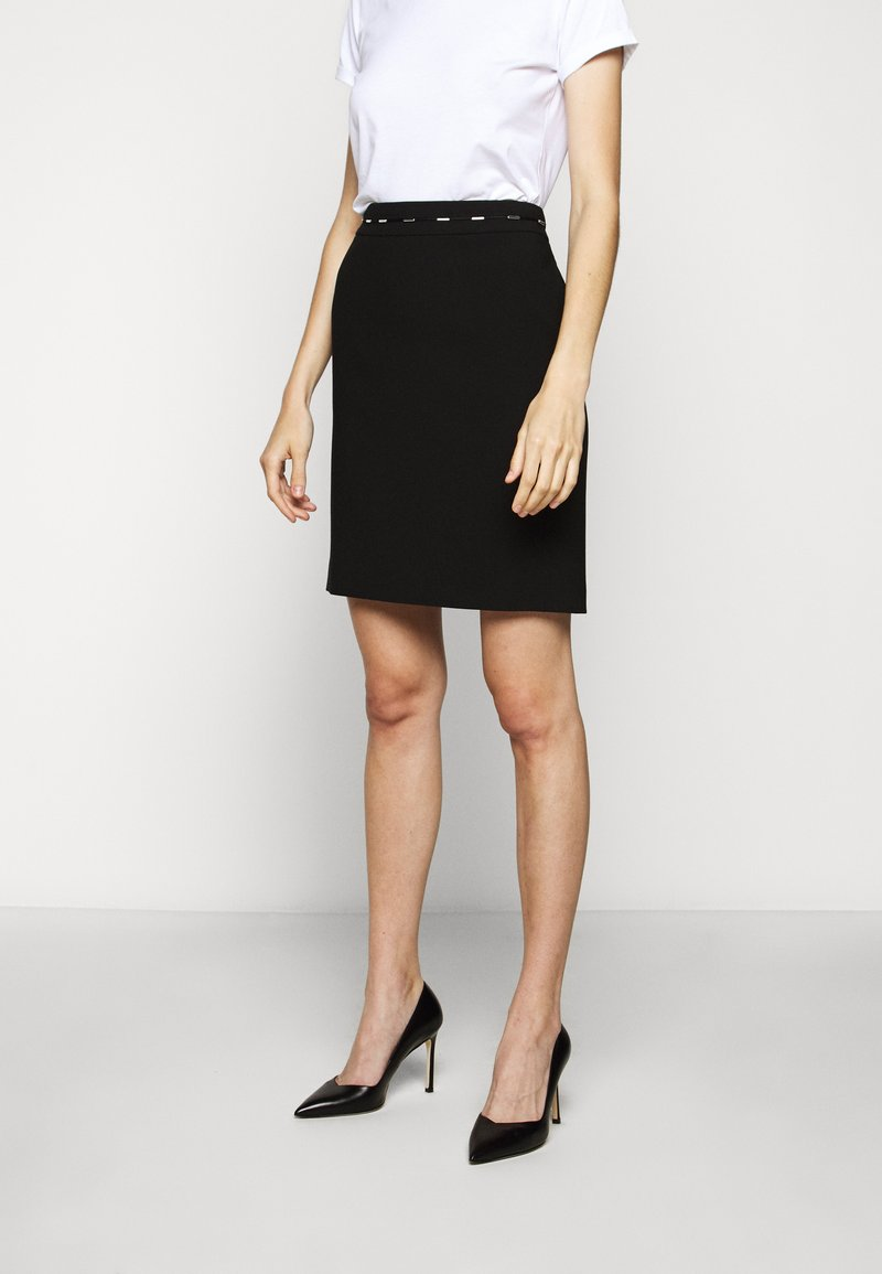 HUGO - RICARI - Pouzdrová sukně - black