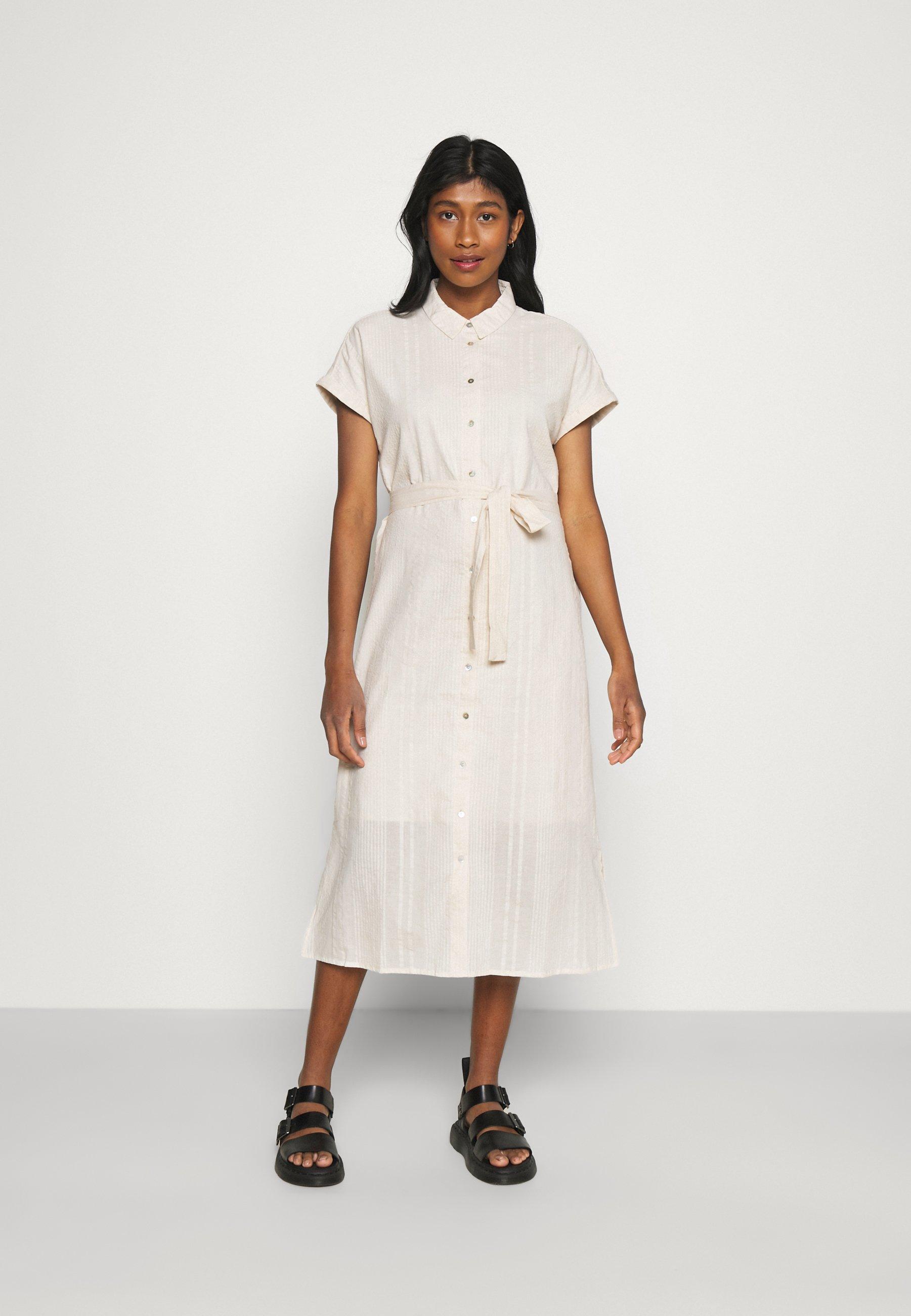 Mujer VMNAJA CALF SHIRT DRESS - Vestido camisero