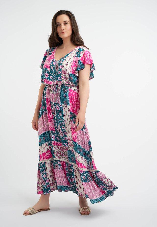 Korte jurk - multi pink red