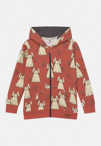 TINY RABBITS UNISEX - Zip-up sweatshirt - coral