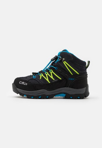 KIDS RIGEL MID SHOE WP UNISEX - Hiking shoes - antracite/yellow fluo