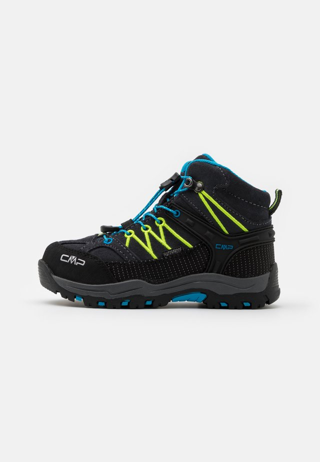 KIDS RIGEL MID SHOE WP UNISEX - Outdoorschoenen - antracite/yellow fluo