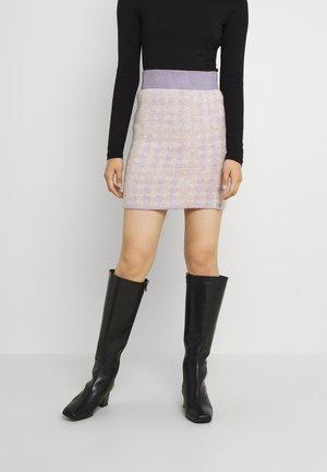 VICHEKINA SHORT SKIRT - Mini skirt - natural melange/lavender