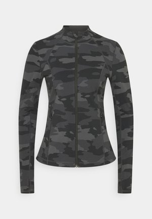 POWER WORKOUT ZIP THROUGH JACKET - Training jacket - black tonal