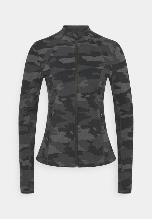 POWER WORKOUT ZIP THROUGH JACKET - Training jacket - black tonal