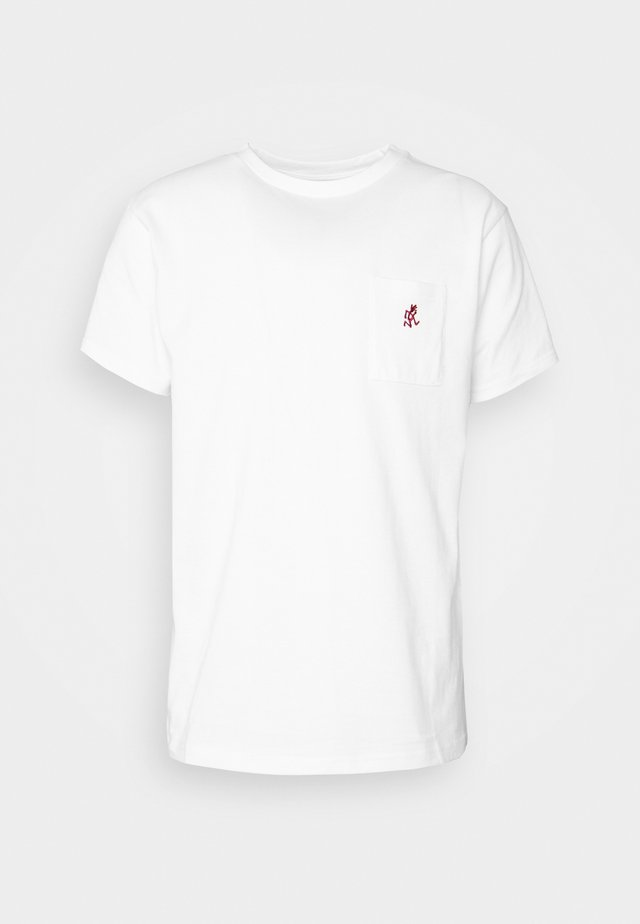 ONE POINT TEE - T-shirts - white