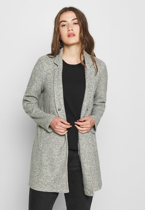VMBRUSHEDKATRINE JACKET - Short coat - black forest/melange