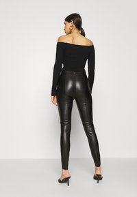 Even&Odd - BODYSUIT- OFF SHOULDER - Jumper - black - 2