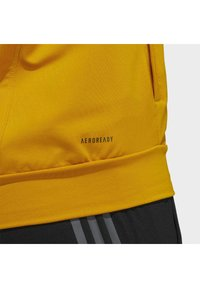 adidas Performance - AEROREADY 3-STRIPES COLD WEATHER KNIT HOODIE - Sudadera con cremallera - gold - 9