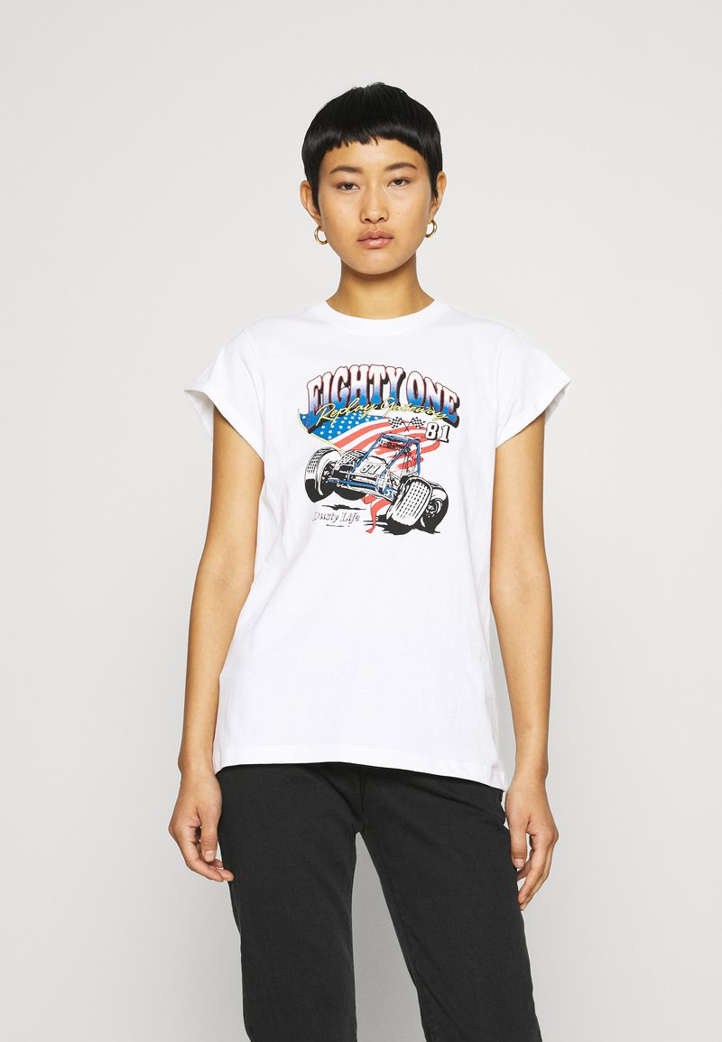 Replay - Print T-shirt - white
