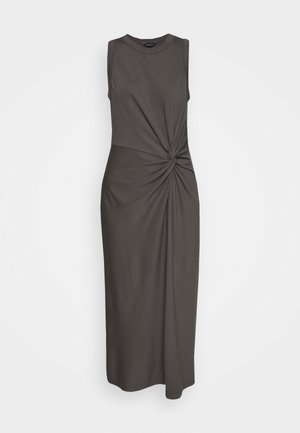 TWIST FRONT - Shift dress - moleskin
