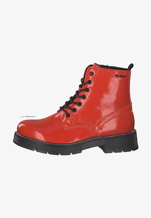 Šněrovací kotníkové boty - orange