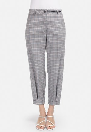 MIT KARO-DESSIN - Trousers - schwarz beige