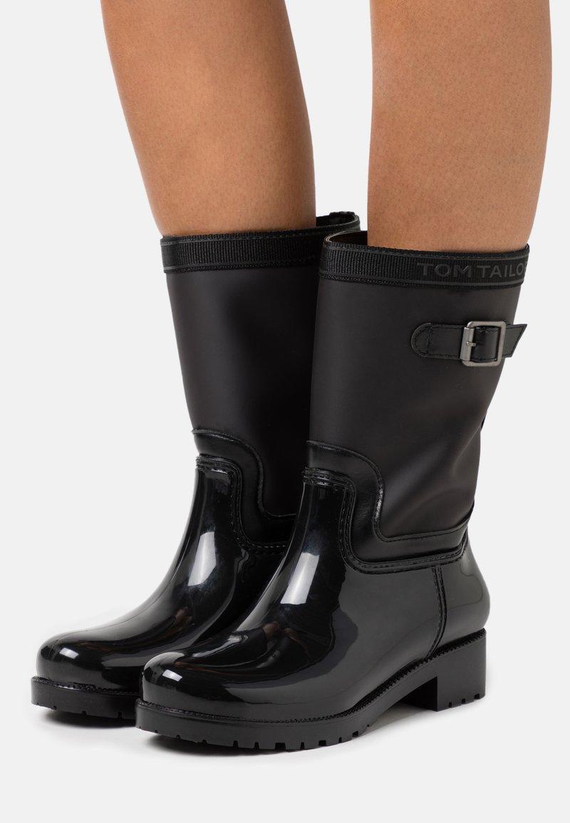 TOM TAILOR - Botas de agua - black