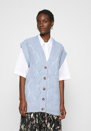 CRUZ VEST - Cardigan - xenon blue