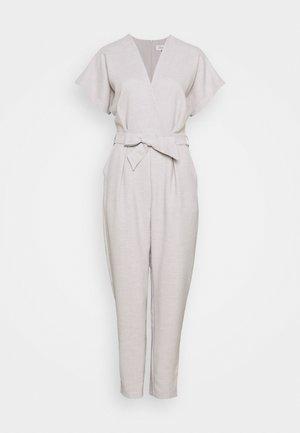 PLEATED WRAP - Jumpsuit - grey