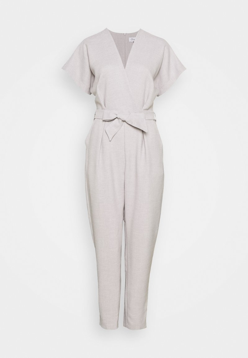Closet - PLEATED WRAP - Jumpsuit - grey