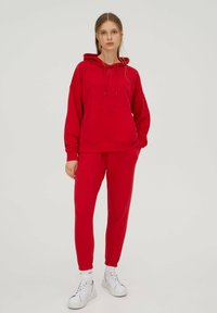 PULL&BEAR - Tracksuit bottoms - red - 1