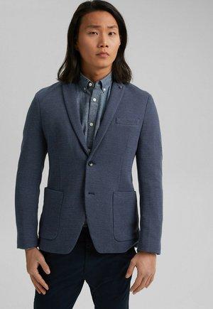 MIT MUSTER - Blazer jacket - grey blue