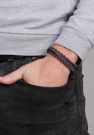 GEVLOCHTEN - Bracelet - donkergrijs