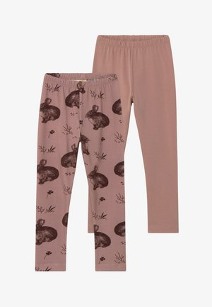 2 PACK - Leggings - Trousers - rose