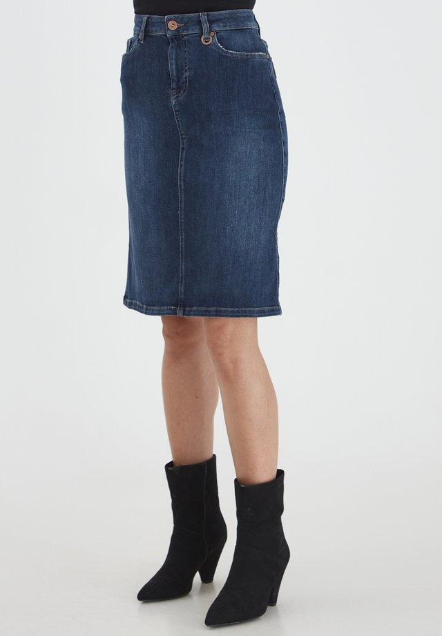 DANNI - Gonna di jeans - dark blue denim