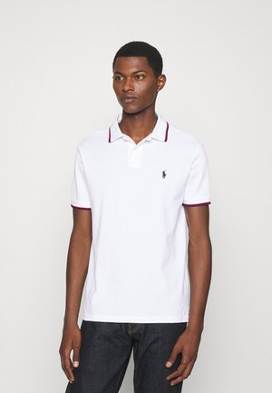 CUSTOM SLIM FIT MESH POLO SHIRT - Poloshirts - white