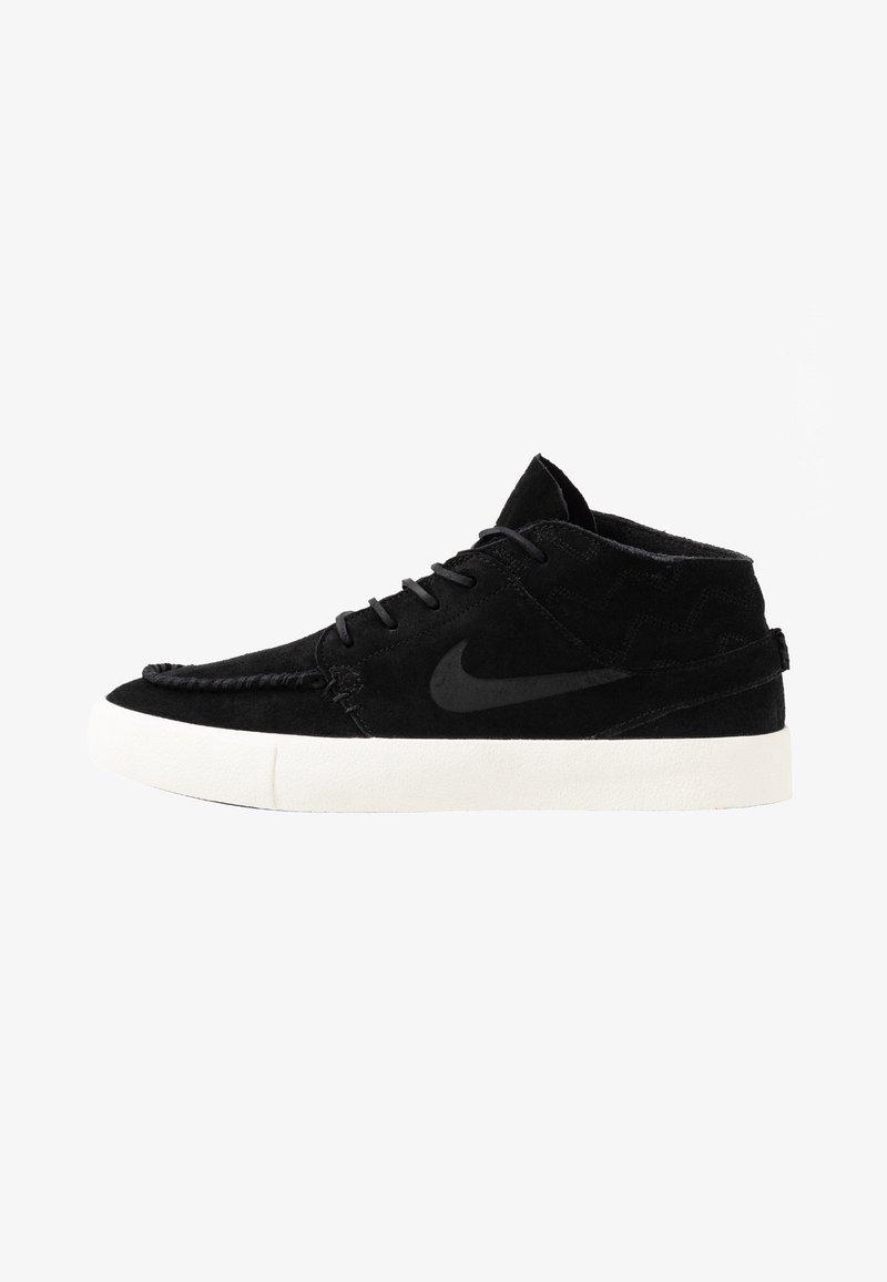 Nike SB - ZOOM JANOSKI MID CRAFTED - Korkeavartiset tennarit - black/pale ivory