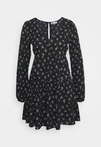 Hollister Co. - PRINT SHORT DRESS - Day dress - black ground - 0