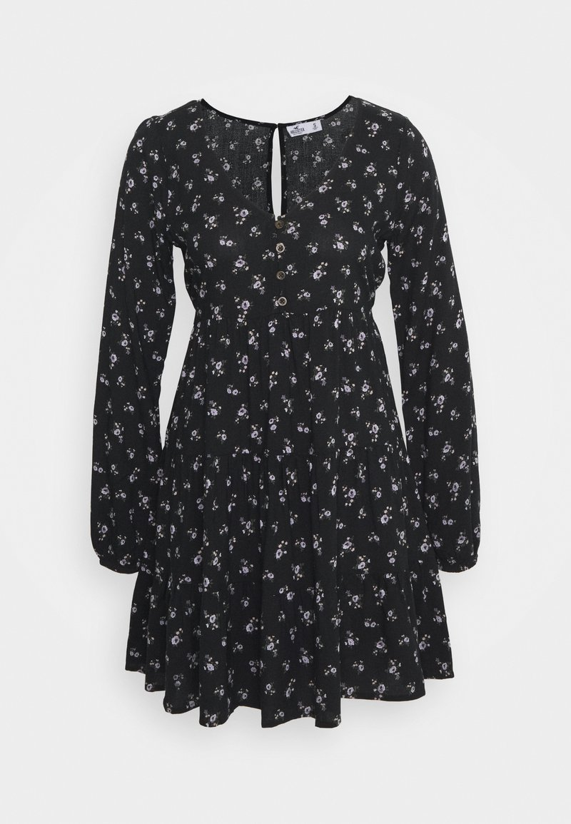 Hollister Co. - PRINT SHORT DRESS - Day dress - black ground