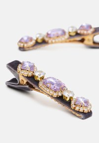Pieces - PCHONESTI HAIRCLIP 2 PACK - Hair Styling Accessory - sheer lilac/gold-coloured/clear - 2