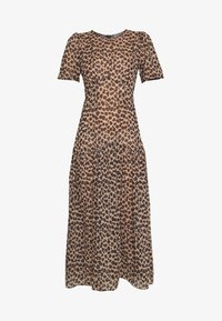 LEOPARD LUCIA SHEER DRESS - Day dress - brown
