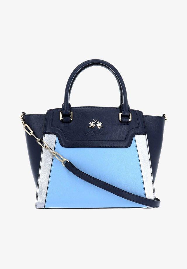 Handbag - blue / dusty blue / steel