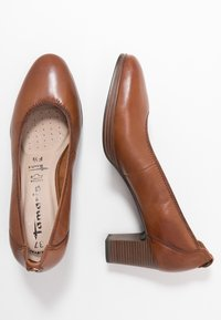 Tamaris - COURT SHOE - Escarpins - cognac - 3