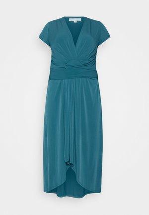 MAXI WRAP - Jersey dress - dark cyan