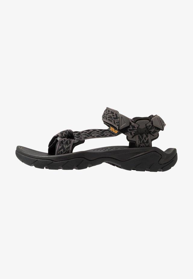 TERRA FI 5 UNIVERSAL - Walking sandals - wavy black