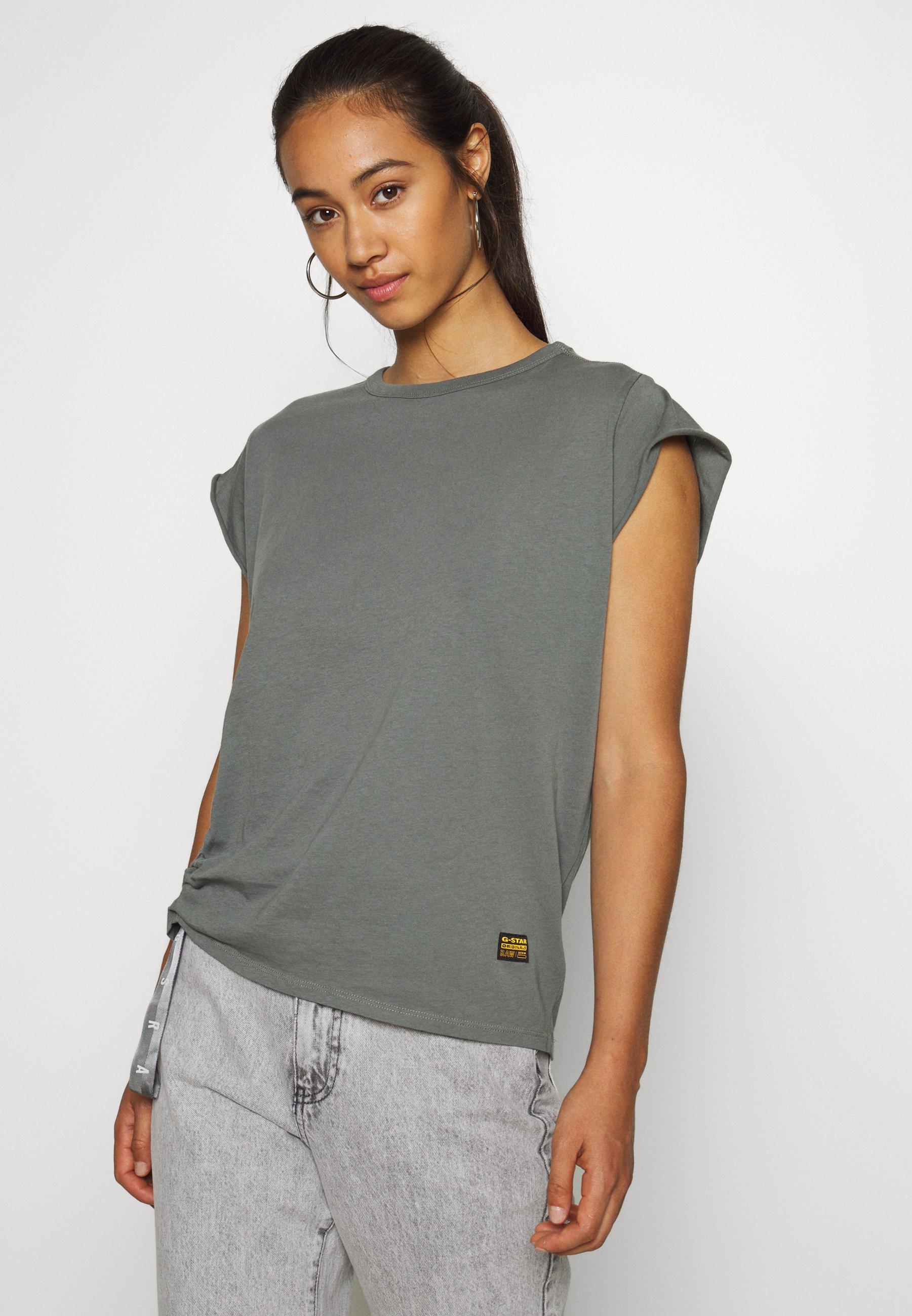 Women GSRAW KNOT  - Print T-shirt