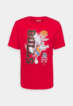NBA CHICAGO BULLS SPACE JAM VERTICAL TUNES TEE - Club wear - red