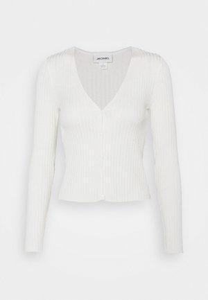 SILJA CARDIGAN - Cardigan - white