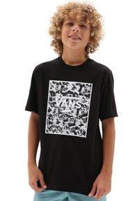 Vans - BY PRINT BOX  - T-shirt med print - black/tie dye skull - 0