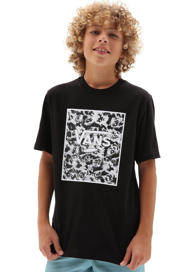 Vans - BY PRINT BOX  - T-shirt med print - black/tie dye skull