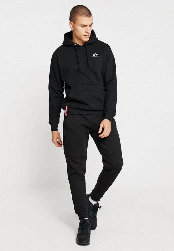 Alpha Industries BASIC HOODY SMALL LOGO - Bluza z kapturem - black/czarny Odzież Męska XXIU