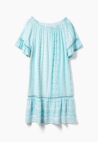 Triangle - Day dress - turquoise aop - 2